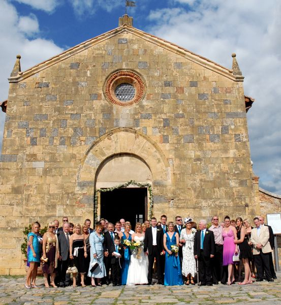 Santa Maria Assunta, Monteriggioni, wedding