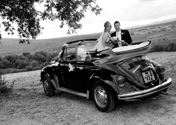 Wedding car, Siena, Tuscany