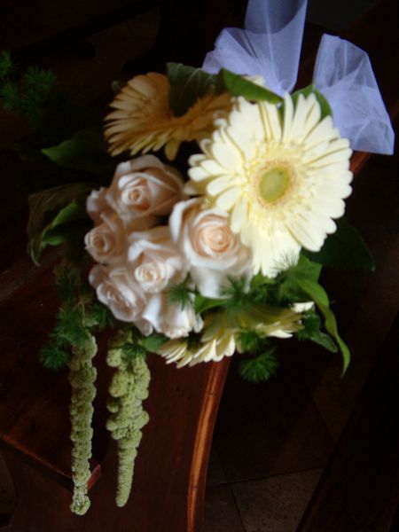 church wedding flowers, siena,