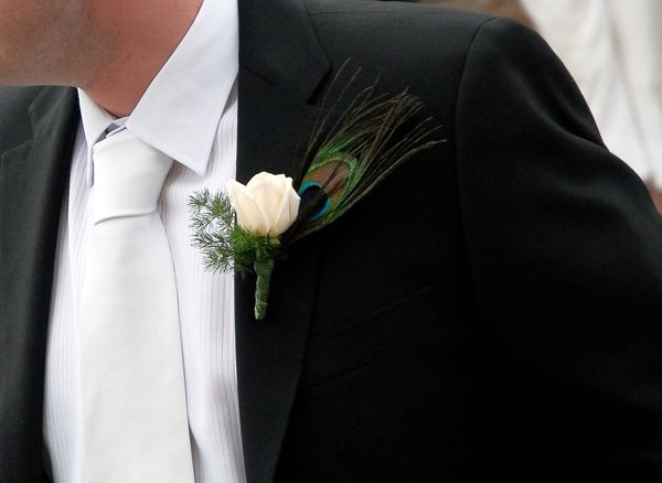 Grooms buttonhole, Siena, Tuscany