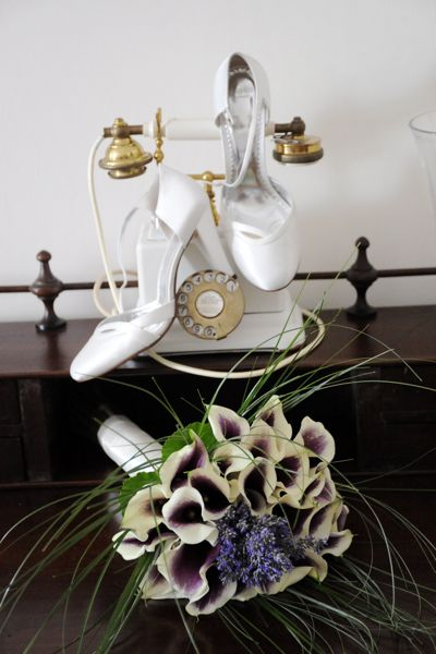 bridal Bouquet, Picasso Calla Lillies