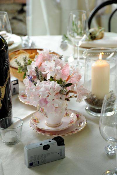 Table Centre pieces, wedding, Dievole