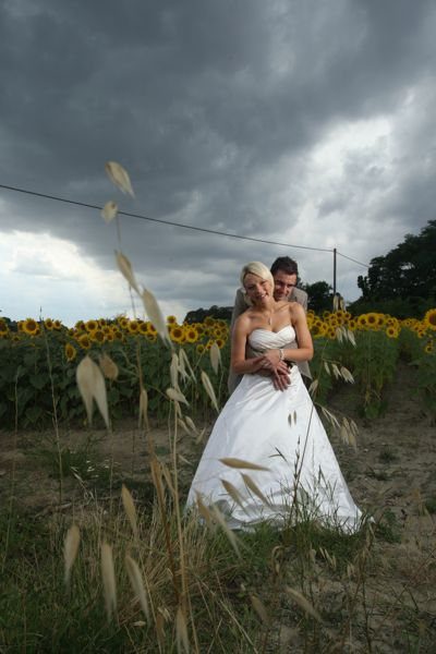 Tuscan wedding, sunflowers