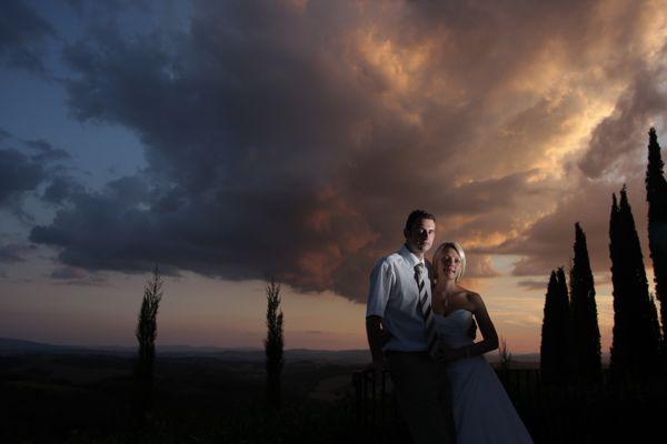Tuscan sunset, weddings, Siena