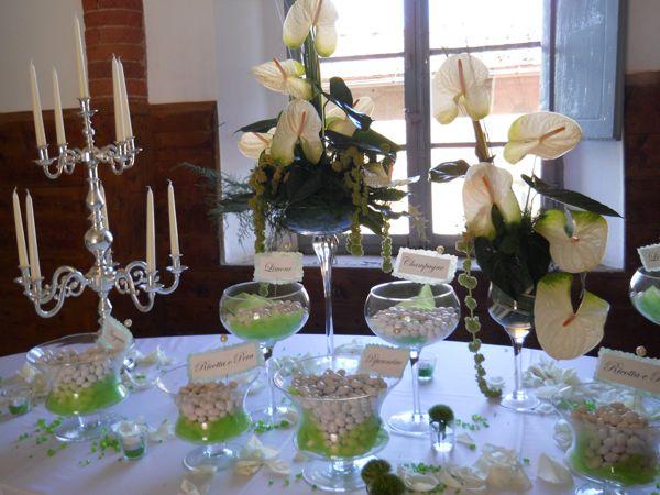 Confetti corner, wedding, Tuscany,