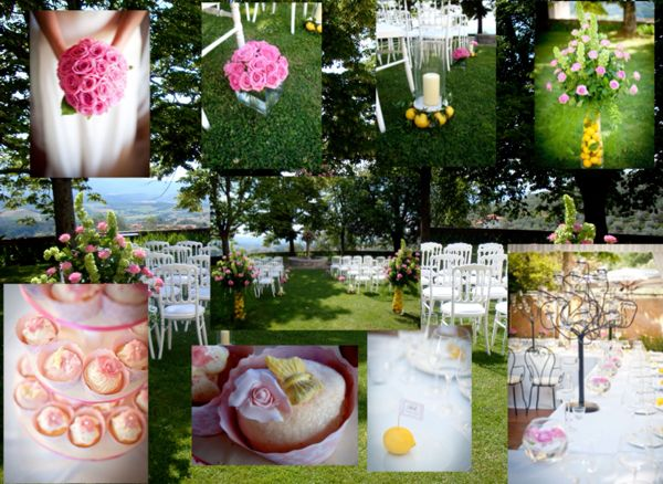 Pink & Lemon wedding mood board, tuscany wedding, tuscany wedding planner