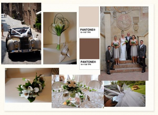 Brown wedding mood board, wedding tuscany, wedding planner Tuscany