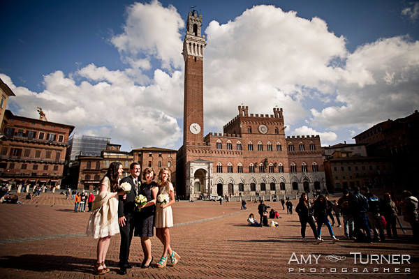 wedding vow renewal ceremony, Siena, Tuscany, Piazza Del Campo