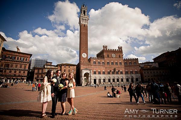 wedding vow renewal ceremony, Siena, Tuscany, Piazza Del Campo