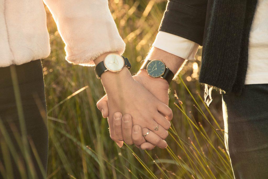 wedding rings and clocks